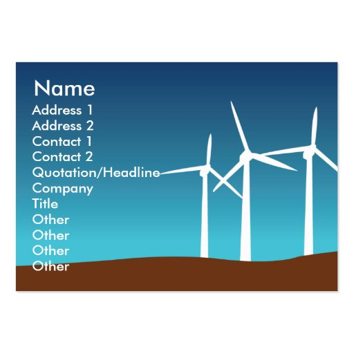 Wind Towers - Chubby Business Cards