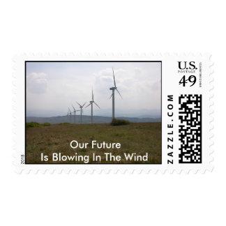 Wind-turbine-13 Stamp