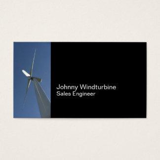 Wind turbine and blue sky business card
