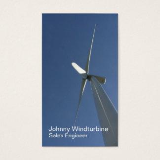 Wind turbine blades from below business card