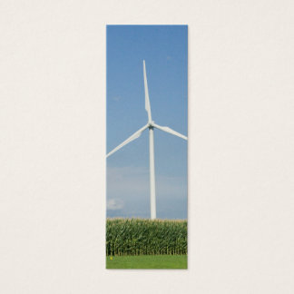 Wind Turbine Bookmark Mini Business Card