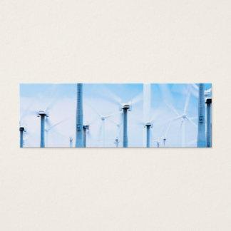 Wind turbine bookmark mini business card