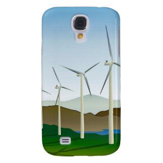 Wind Turbine by Lake Samsung Galaxy S4 Cover
