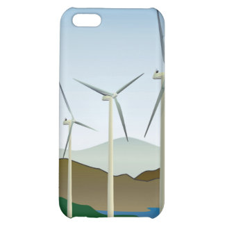 Wind Turbine by Lake Cover For iPhone 5C