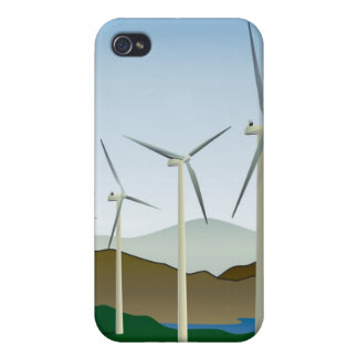Wind Turbine by Lake iPhone 4/4S Cases