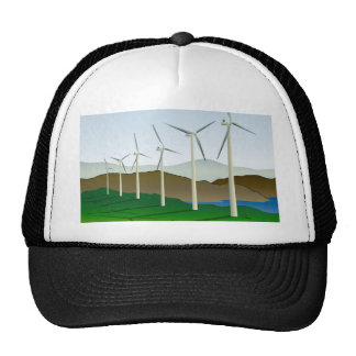 Wind Turbine by Lake Trucker Hat