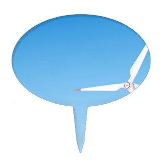 Wind turbine cake topper