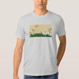 Wind Turbine City Tee Shirt