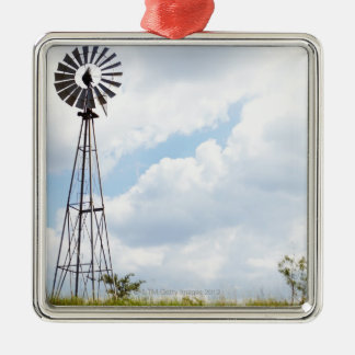 Wind Turbine in field Christmas Ornament