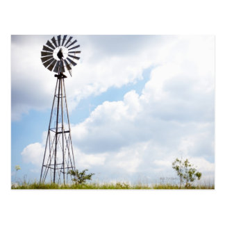 Wind Turbine in field Postcard