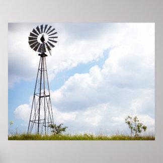 Wind Turbine in field Poster