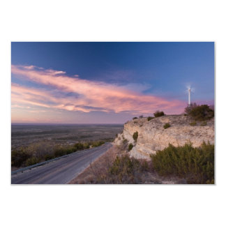 Wind Turbine in west Texas at Sunset Card