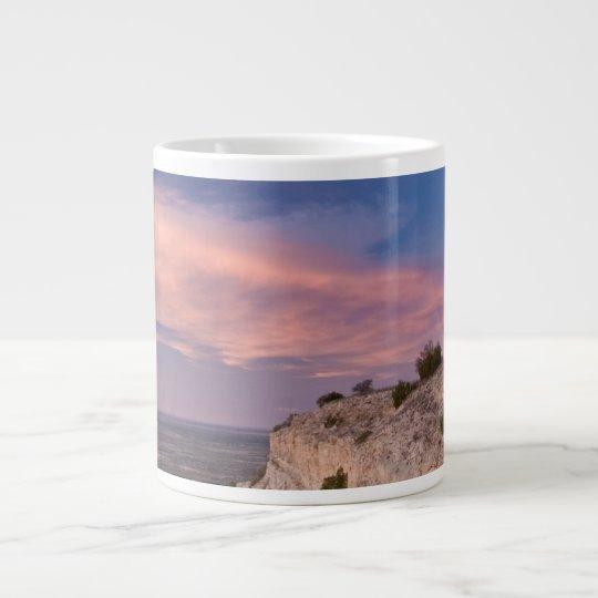 Wind Turbine in west Texas at Sunset Large Coffee Mug