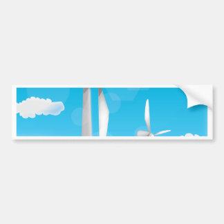 Wind Turbine renewable engery Bumper Sticker