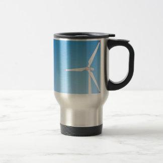 Wind turbine travel mug