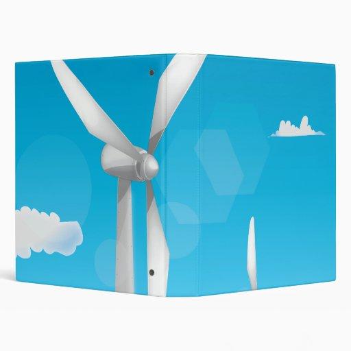 Wind Turbines 3 Ring Binders