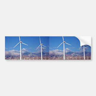 Wind turbines car bumper sticker
