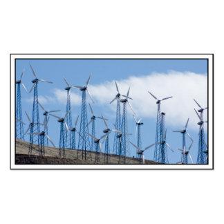 Wind Turbines Business Card Template