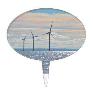 Wind Turbines Cake Topper