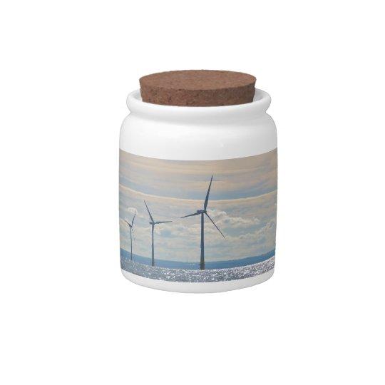Wind Turbines Candy Jars