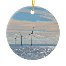 Wind Turbines Ceramic Ornament