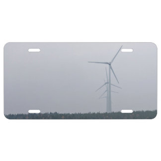 Wind turbines generate power license plate