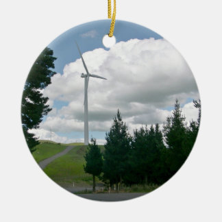 Wind turbines in countryside ornament