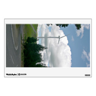 Wind turbines in countryside wall decal
