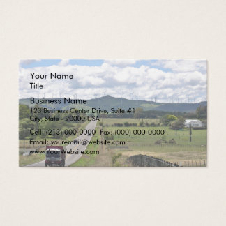 Wind turbines installed on mountain business card