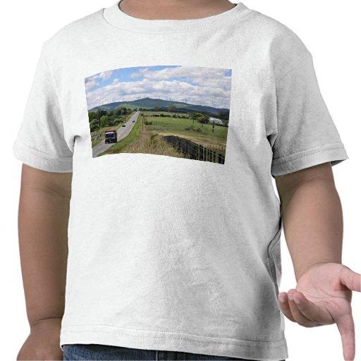 Wind turbines installed on mountain t-shirts