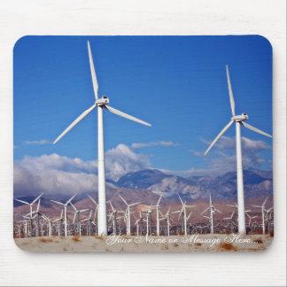 Wind turbines mouse pad