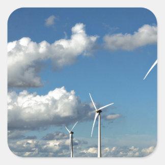Wind turbines on the roadside