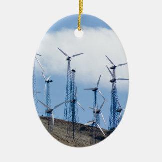 Wind Turbines Christmas Tree Ornaments