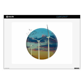 Wind Turbines Painted Sky Laptop Decal