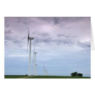 Wind Turbines Skyward Greeting Card