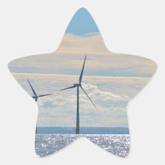 Wind Turbines Star Sticker