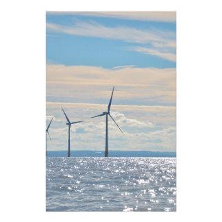 Wind Turbines Customized Stationery
