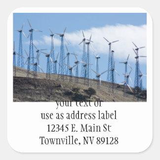 Wind Turbines Square Sticker