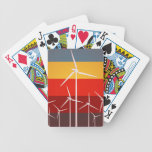 Wind Turbines Vintage Style Bicycle Playing Cards
