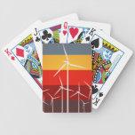 Wind Turbines Vintage Style Poker Cards