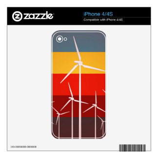 Wind Turbines Vintage Style Decal For The iPhone 4
