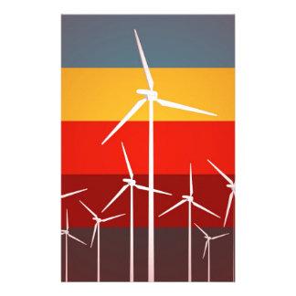 Wind Turbines Vintage Style Customized Stationery