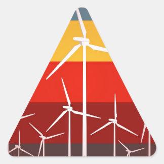 Wind Turbines Vintage Style Stickers