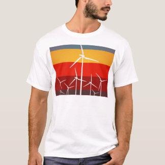 Wind Turbines Vintage Style T-Shirt
