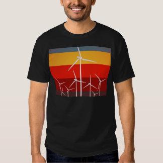 Wind Turbines Vintage Style Tee Shirt