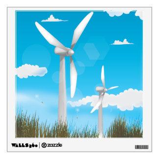 Wind Turbines Wall Decal