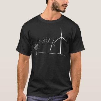Wind Turbines White T-Shirt
