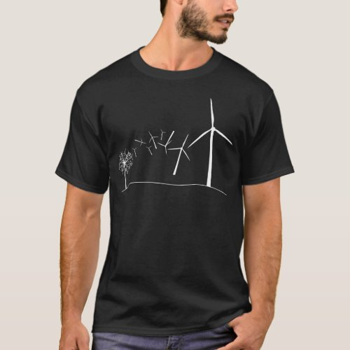 Wind Turbines White T_Shirt