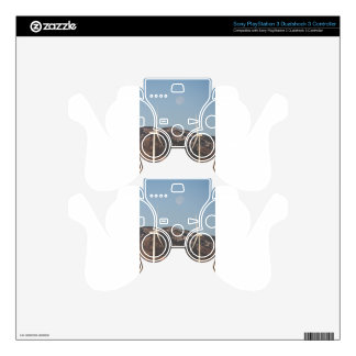 Wind Turbines With A Full Moon Portrait PS3 Controller Decals