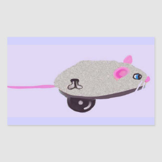 Wind Up Mouse Rectangular Sticker